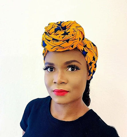 Ada headwrap scarf - black-venus-beauty
