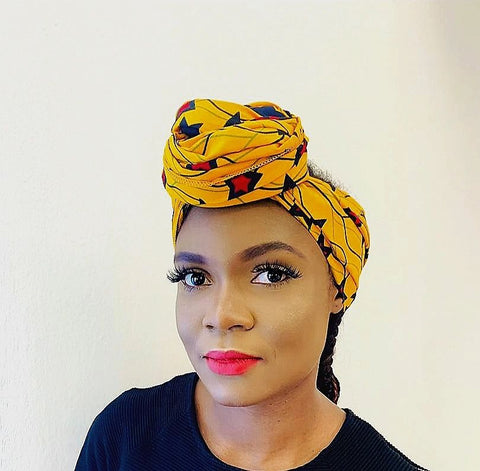 Adanna headwrap scarf - black-venus-beauty