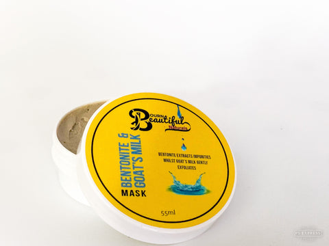Bentonite Clay & Goat's Milk Face Mask Face Mask Bourn Beautiful Naturals