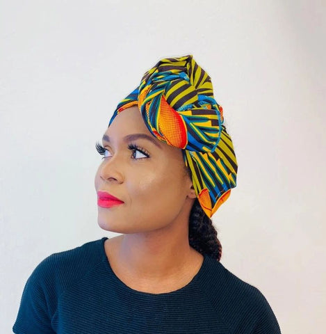 Cara headwrap scarf - black-venus-beauty
