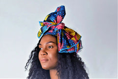 Flora headwrap scarf - black-venus-beauty
