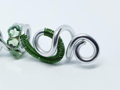 Green Hair Jewellery - Silver