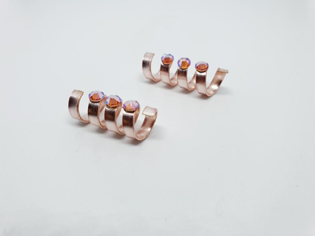 Rose Gold Hair Jewellery - 2 pieces set