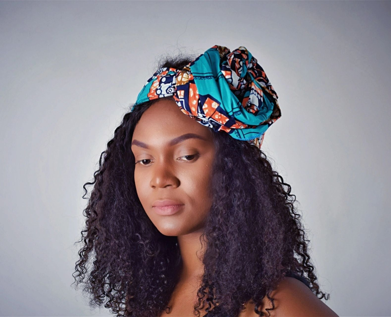 Wilo headwrap scarf - black-venus-beauty