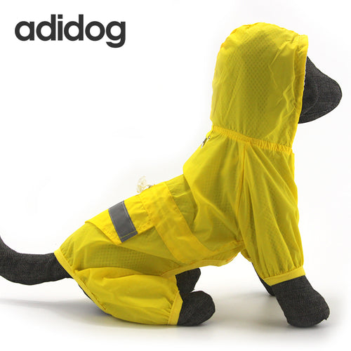 Dog Hooded Waterproof Raincoat