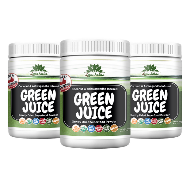 3 BOTTLES OF LOTUS HABITS GREEN JUICE