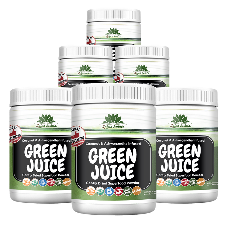 6 BOTTLES OF LOTUS HABITS GREEN JUICE