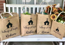 Load image into Gallery viewer, Jute Shopping Bags Set (3 shopping size/1 gift size)