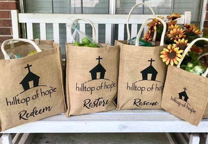 Jute Shopping Bags Set (3 shopping size/1 gift size)