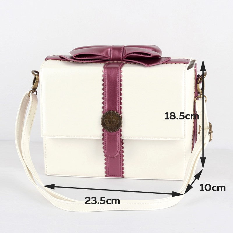 8ff857fde6 Gift Box Bag Japan Vintage Fashion Bow Knot Bag Fashion Leather Shoulder Bag  Female Crossbody Bags