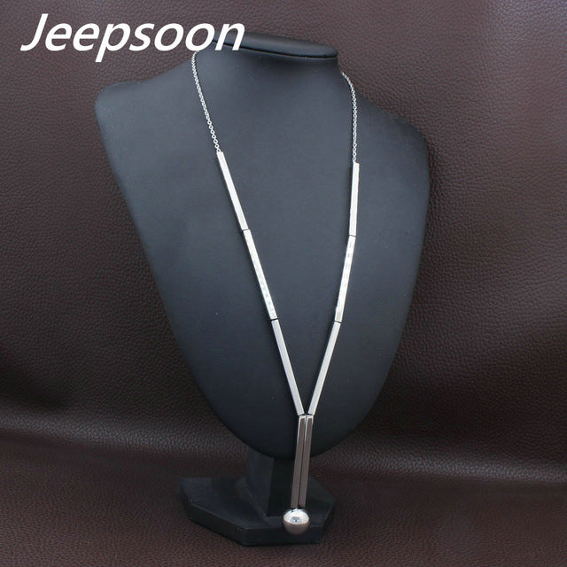Stainless Steel  Long Chain Necklace