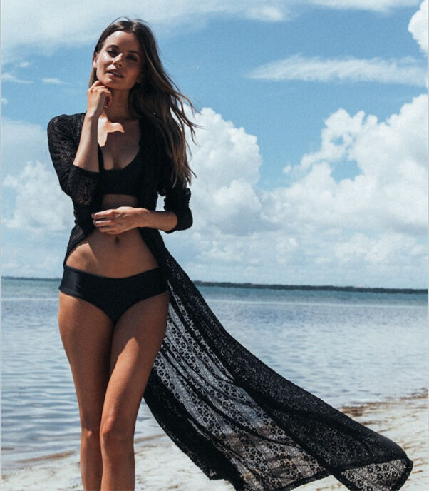 Long Sexy Sheer Bikini Beach Cover Up Dress