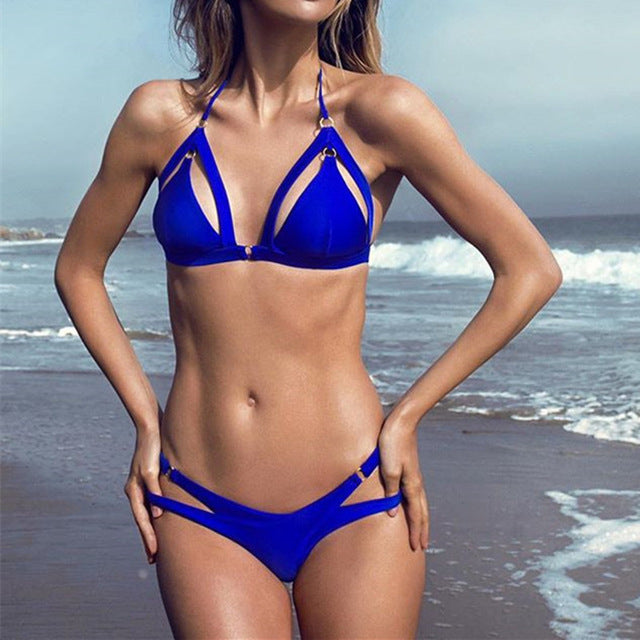 Sexy Cut Out Thong Bikini Set