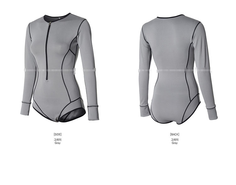 Surf Style Long Sleeve One Piece