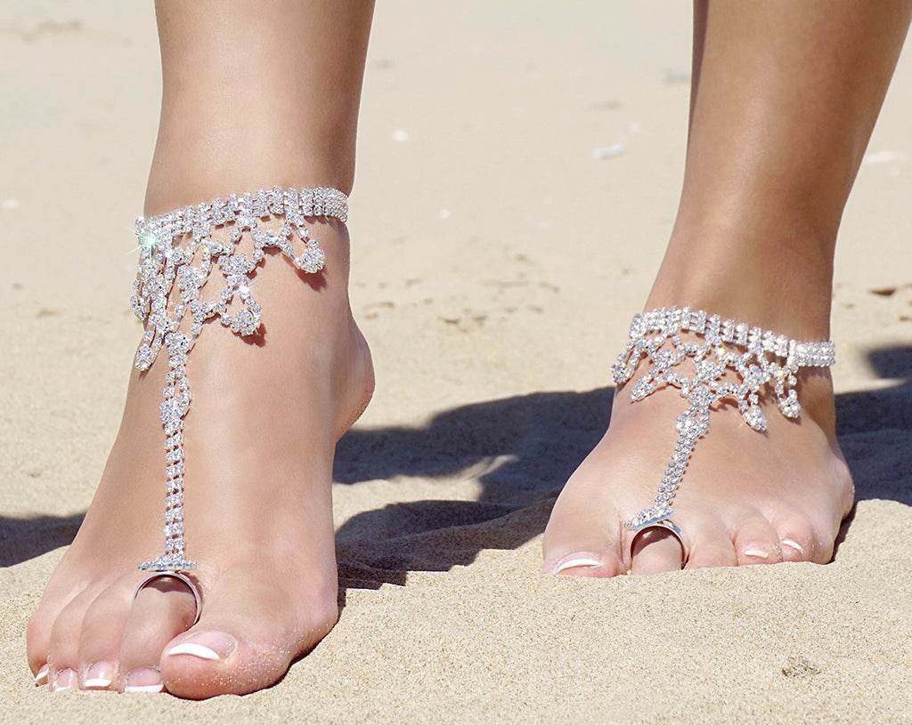 All That Shimmers Rhinestone Flower Anklet