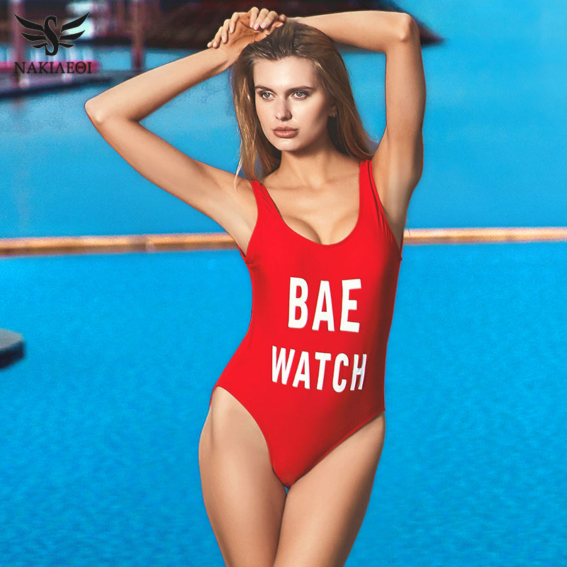 SEXY BACKLESS Bae Watch Swimsuit