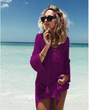 Knit Beach Swimsuit Cover Up , Beachwear Dresses