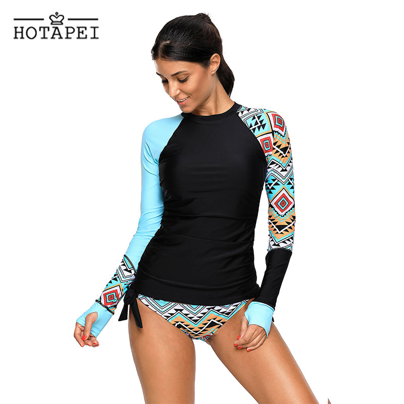 Long Sleeve Plus SizeTankini Swimsuit
