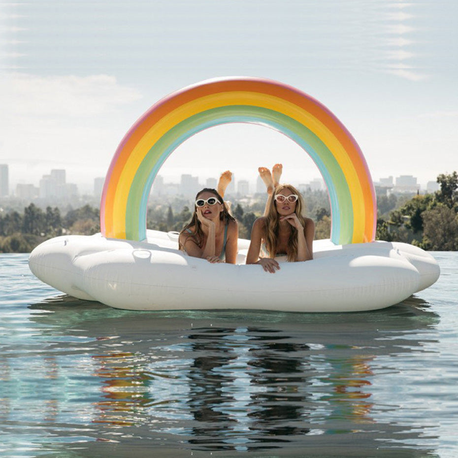 240cm Giant Inflatable Rainbow Cloud Pool Float