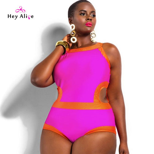 High Neck Sexy Plus Size Monokini