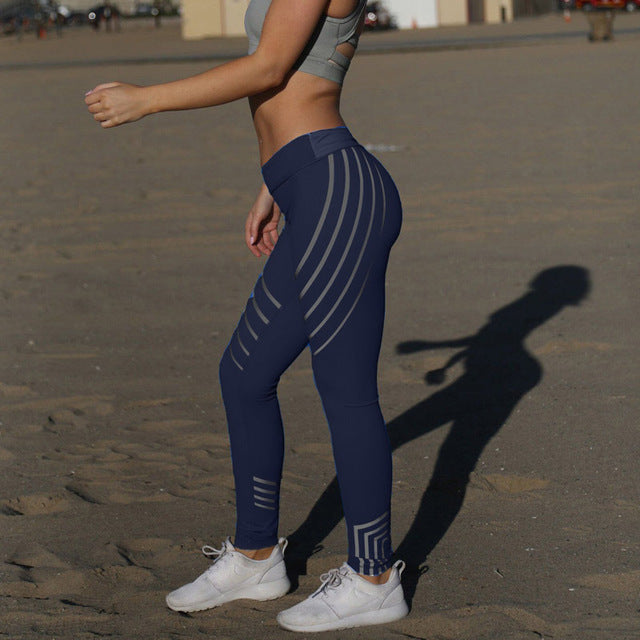 Fitness Leggings With High Waist Breathable Pants