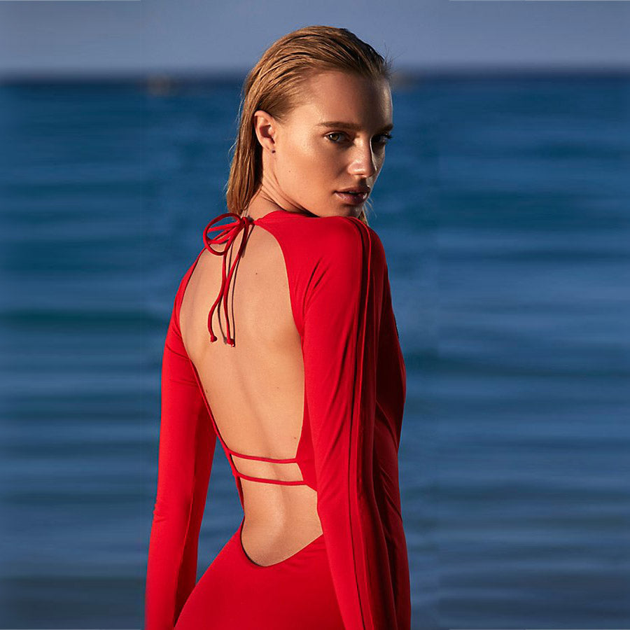 Surf Is Up  Backless One Piece Surfing Swimsuit