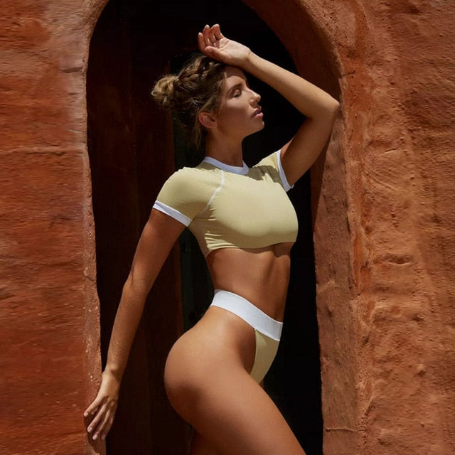 Athletic Cropped Tee Bikini