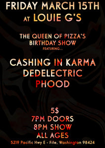 Cashing In Karma @ Louie G's - March 15th