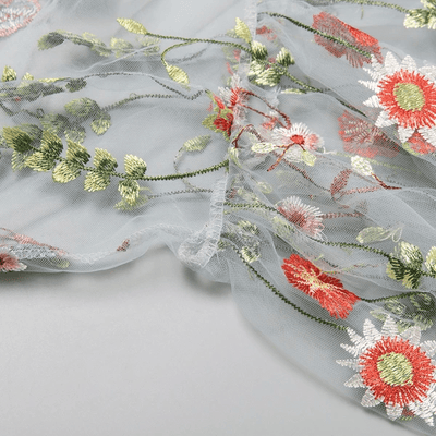 Embroidery Party Dress