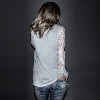 Women's Casual Lace Long Top