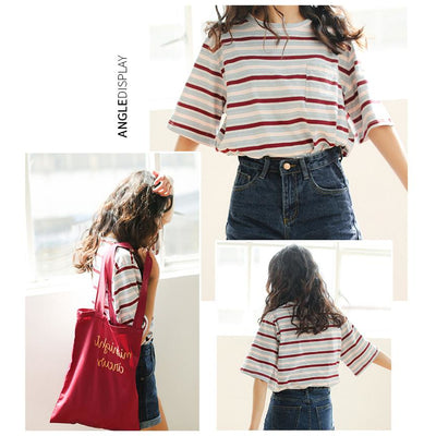 Vintage Printed Short Sleeve Top