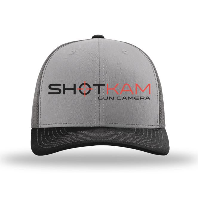 Gray Trucker Hat with ShotKam Logo Embroidery