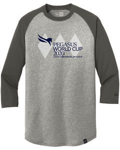 Pegasus World Cup Invitational 2020 New Era Heritage Blend 3/4 Sleeve Baseball Raglan Tee