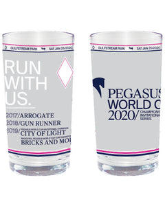 Pegasus World Cup Invitational 2020 Past Winners' Glass - 2 pack