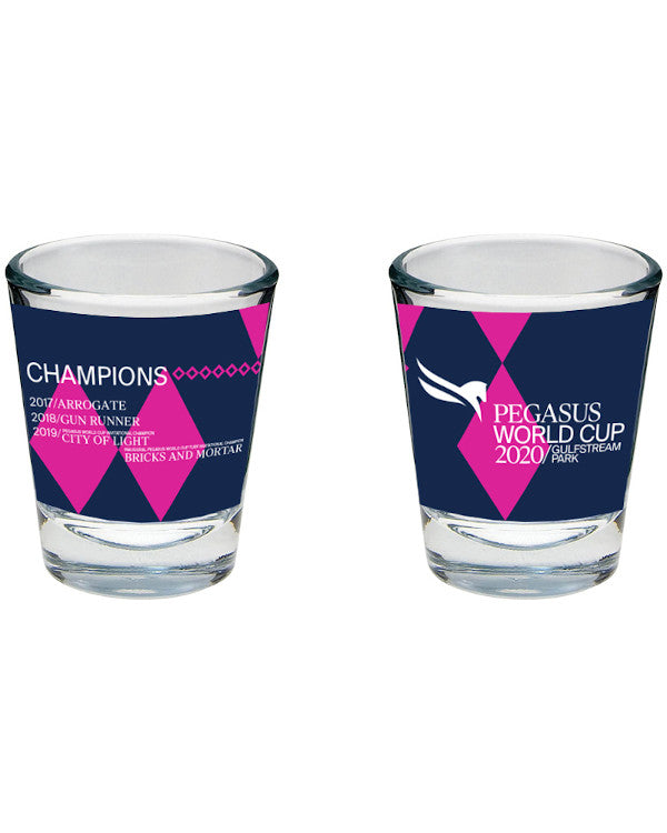 Pegasus World Cup Invitational 2020 Sublimated Shot Glass