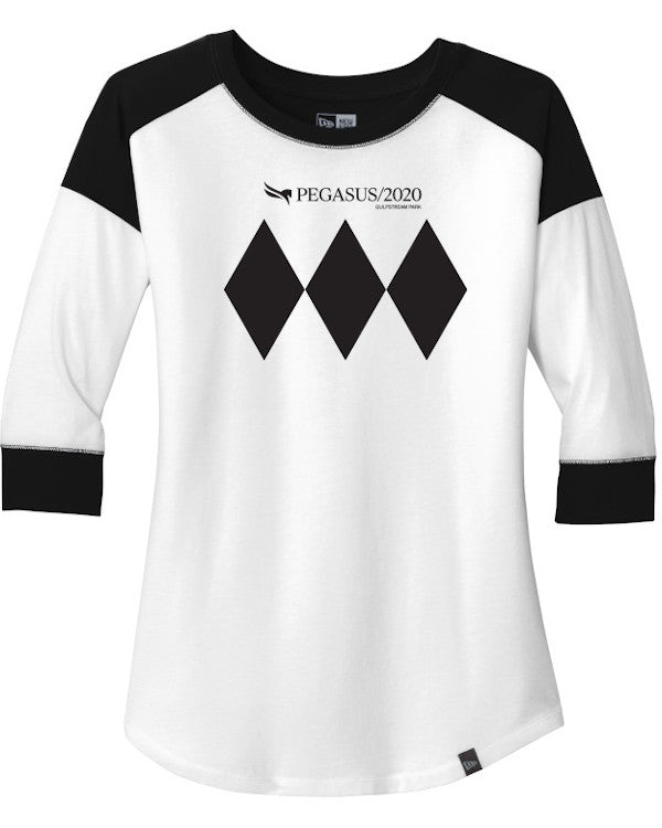 Pegasus World Cup Invitational 2020 Ladies' New Era Heritage Blend 3/4 Sleeve Baseball Raglan Tee