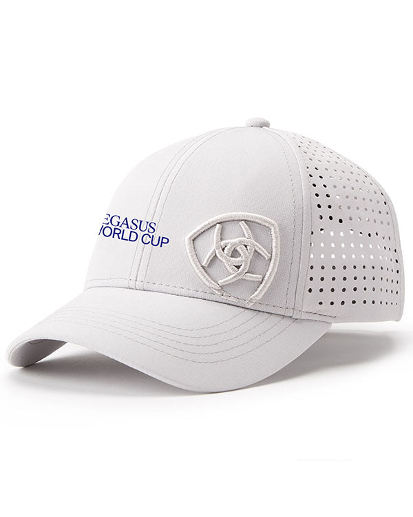 2019 Pegasus World Cup Ariat Tri Factor Hat, Silver