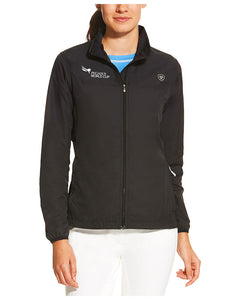 2019 Pegasus World Cup Ariat Women's Ideal Windbreaker Jacket, Black