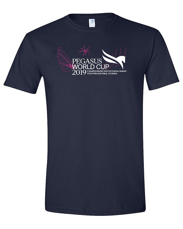 2019 Pegasus World Cup Splash T-Shirt, Navy
