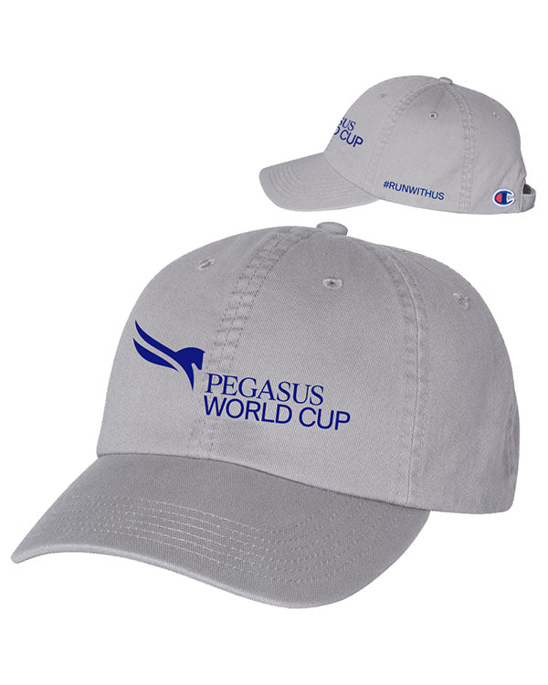 2019 Pegasus World Cup Champion Washed Twill Dad Hat, Meduim Grey Concrete