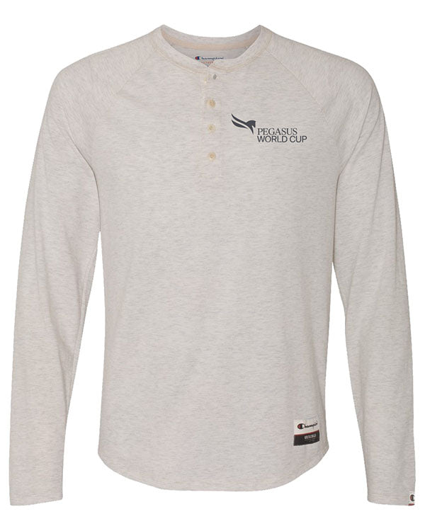 2019 Pegasus World Cup Champion Originals Slub Henley Shirt, Oatmeal Heather