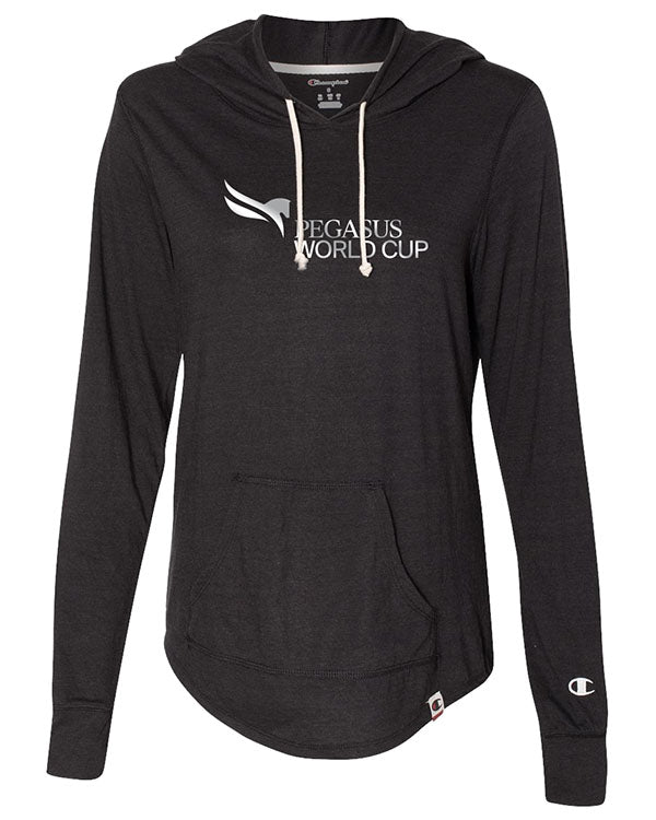 2019 Pegasus World Cup Champion Originals Ladies' Triblend Hooded Pullover, Black