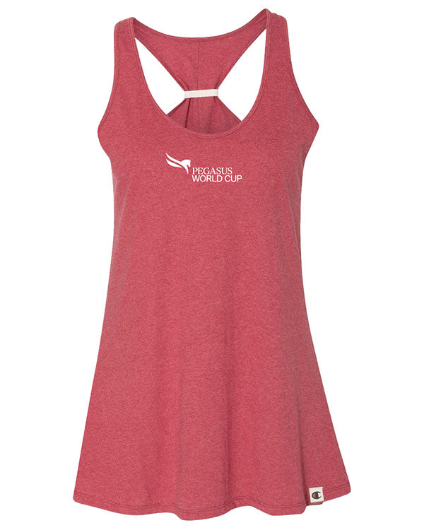 2019 Pegasus World Cup Champion Originals Ladies' Swing Tank Top, Carmine Red Heather