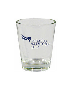 2019 Pegasus World Cup Event Logo Shot Glass, Clear