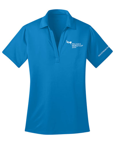 2019 Pegasus World Cup Ladies' Silk Touch Polo, Brilliant Blue