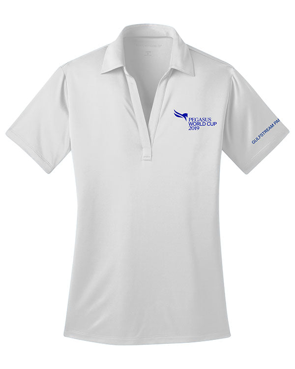 2019 Pegasus World Cup Ladies' Silk Touch Polo, White