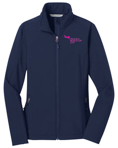 2019 Pegasus World Cup Ladies' Core Full Zip Soft Shell Jacket, Navy