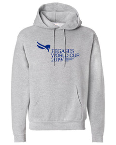 2019 Pegasus World Cup Event Logo Hooded Sweatshirt, Lite Steel