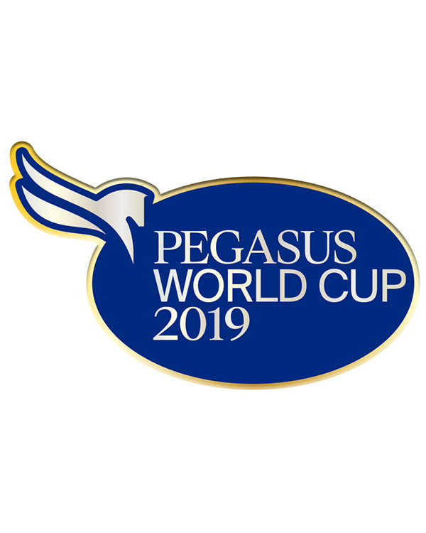 2019 Pegasus World Cup Event Logo Lapel Pin, Gold Metal