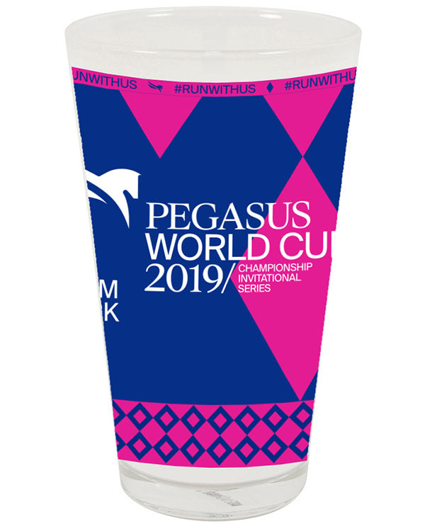 2019 Pegasus World Cup Sublimated Full Wrap Pint Glass